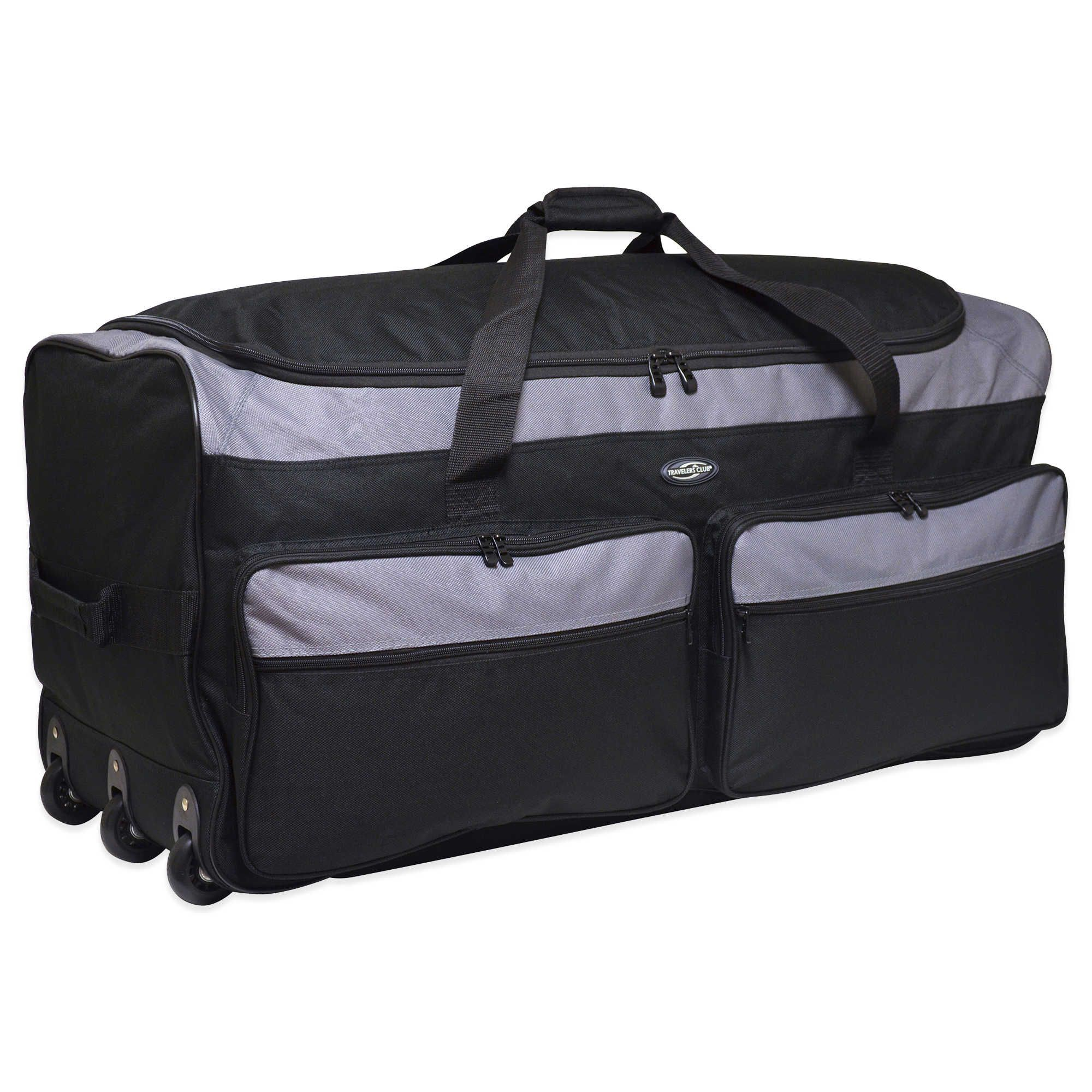 728dd46d48 Traveler s Club 36-Inch Tri-Fold Collapsible Rolling Duffel Bag in Silver