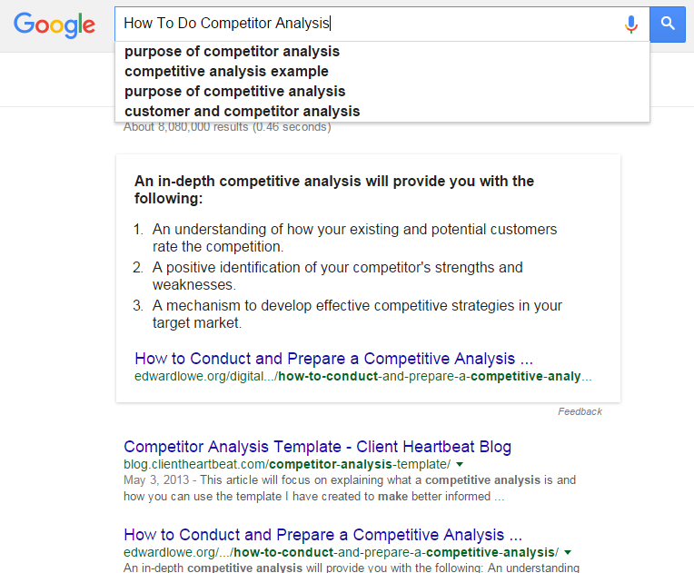 How To Do Competitor Analysis  How To Do Competitor Analysis