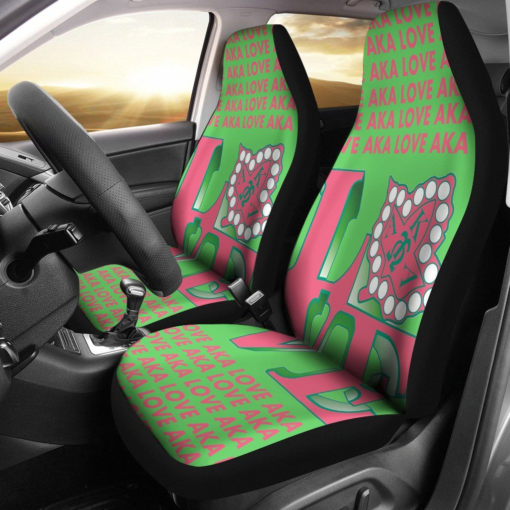 Swell Alpha Kappa Alpha Car Seat Cover Alpha Cars Alpha Kappa Cjindustries Chair Design For Home Cjindustriesco