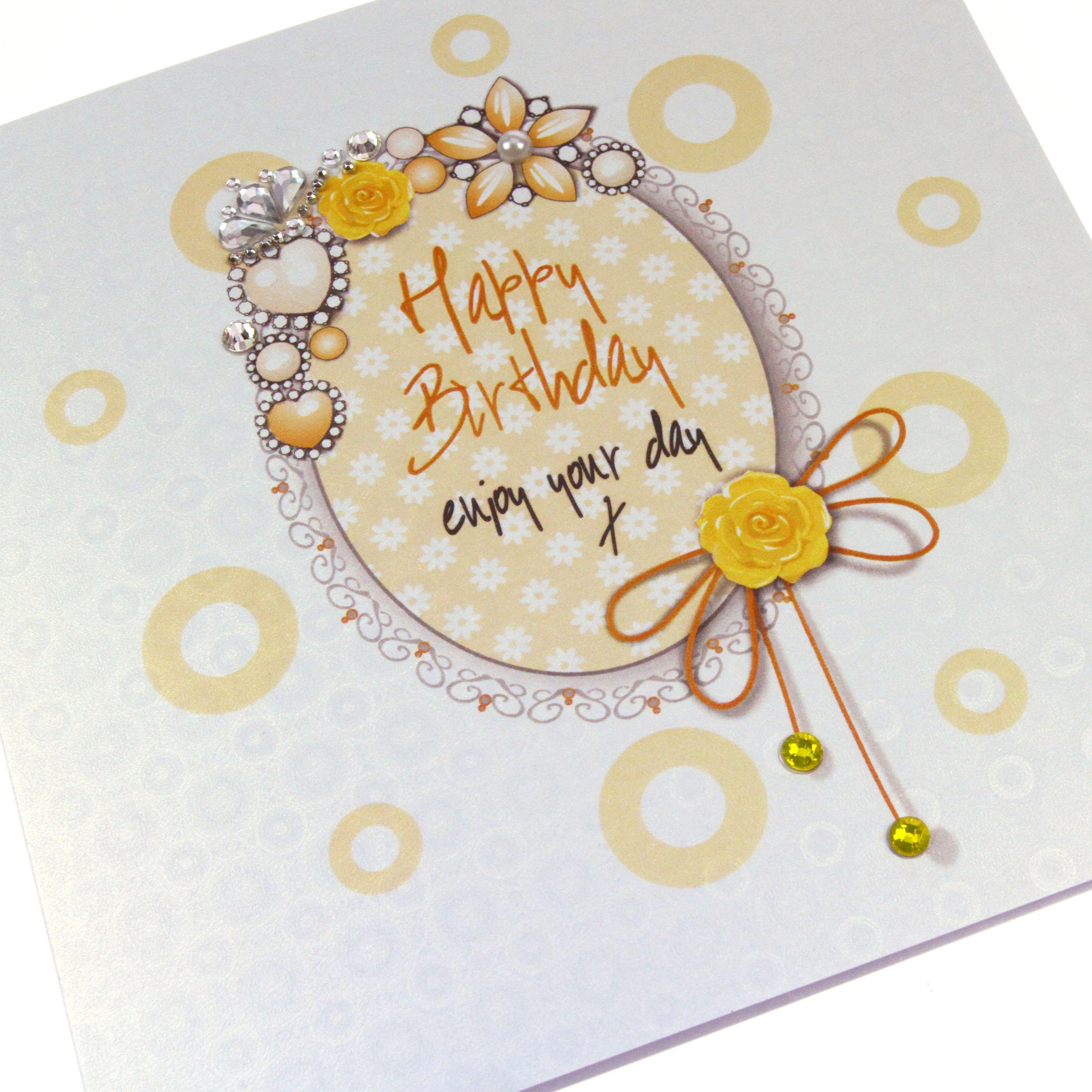 Handmade luxury embossed birthday card regal heirloom sparkling handmade luxury embossed birthday card regal heirloom sparkling crystals pearls holographic vintage enjoy your kristyandbryce Gallery