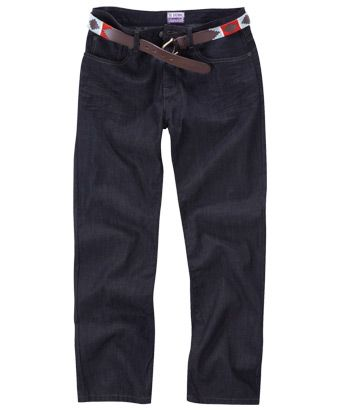 £39.95.  Looser fit jean than the grey ones.  The grey ones are more slimming, but these are more slimming than bootleg or flares.  Bootleg and flares will also make your legs appear shorter