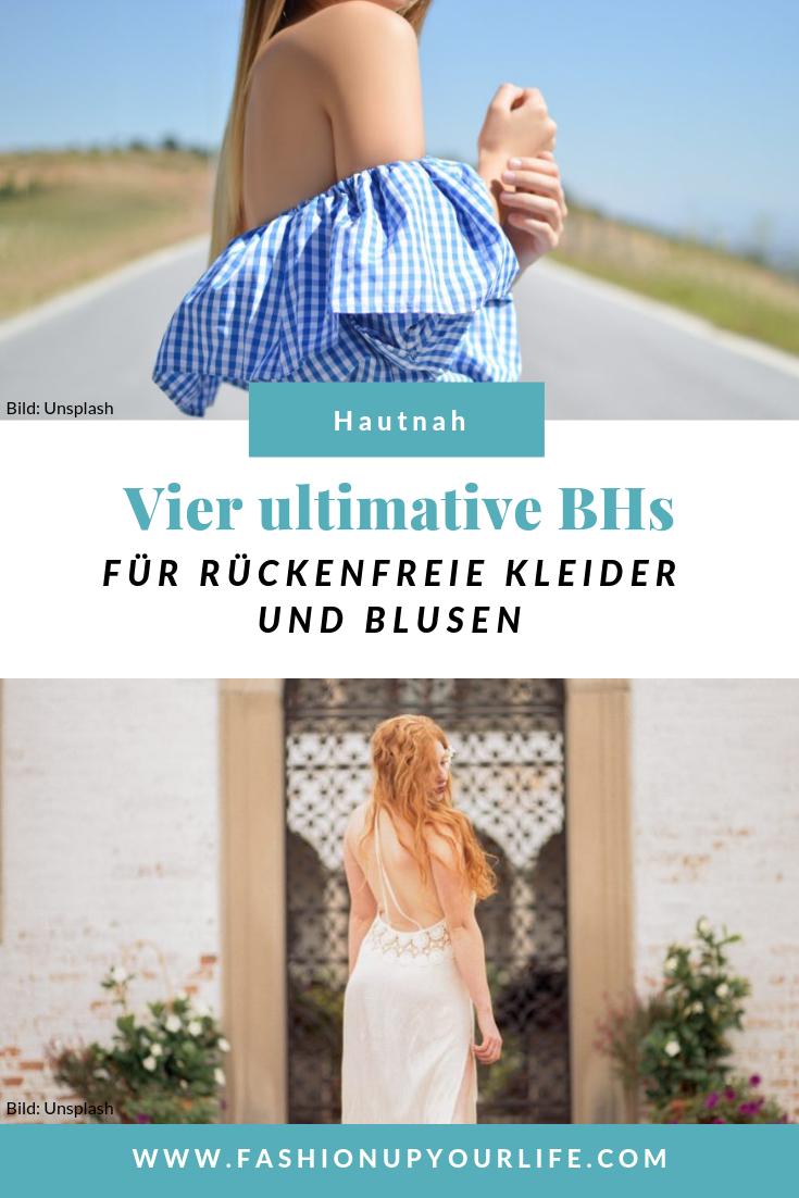 drunter & drüber: bh-varianten für rückenfreie kleider