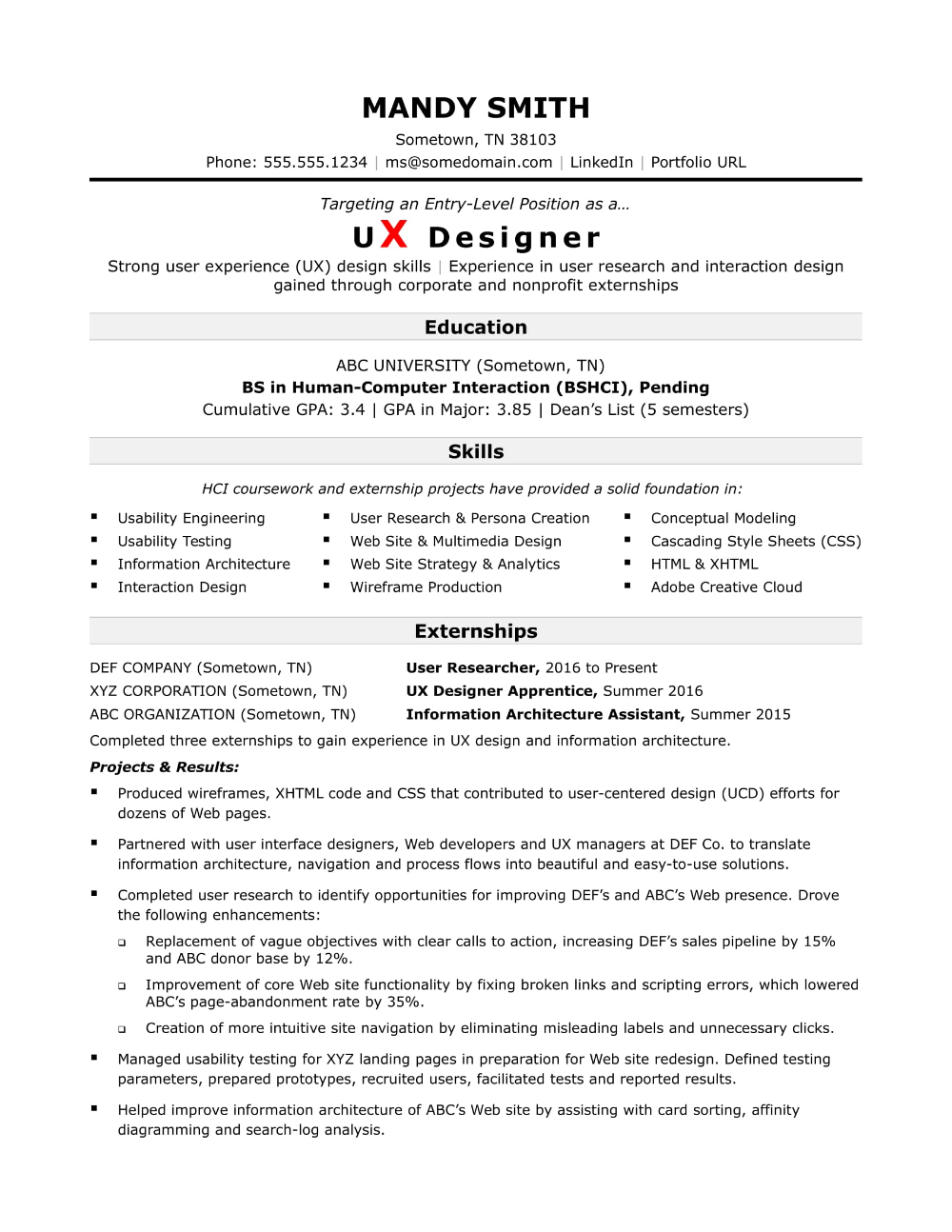 This sample resume shows how to create a compelling one