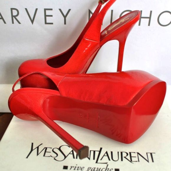 red ysl shoes