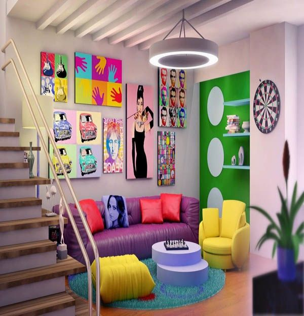 Décor pop art salon