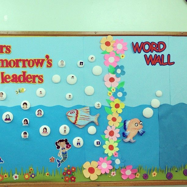 Fish bulletin boards and classroom ideas for Classroom wall mural ideas