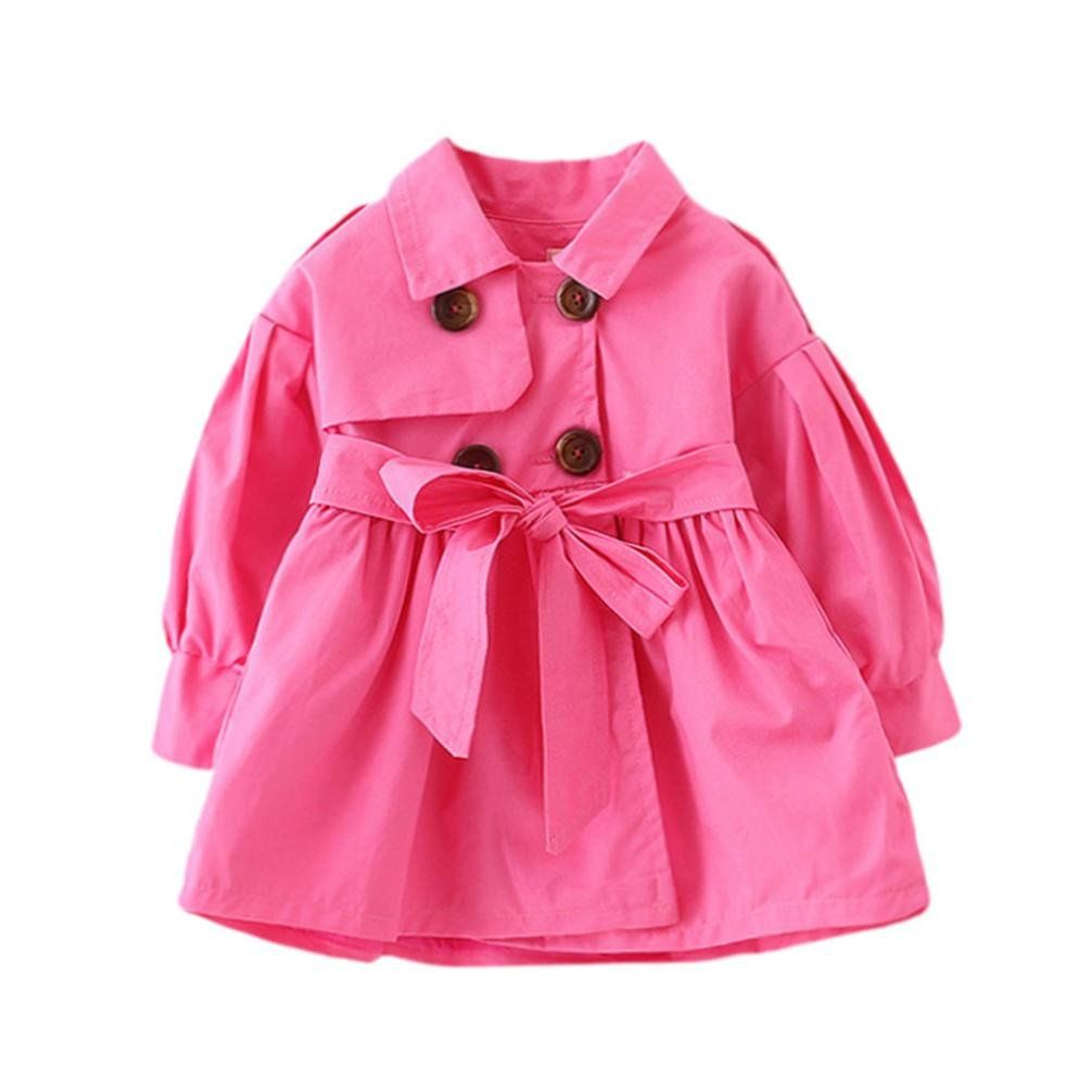 6a146fa09 Fabal Kids Baby Girls Trench Wind Dust Coat Hooded Jacket Outerwear ...
