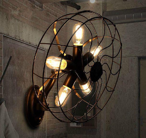 Creative design retro soggiorno camera da letto - Ventilatore da parete ...