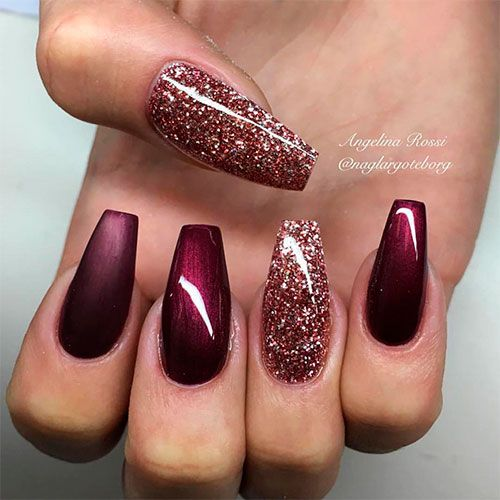 120 Best Coffin Nails Ideas That Suit Everyone Ballerina Nails Burgundy Nails Nails