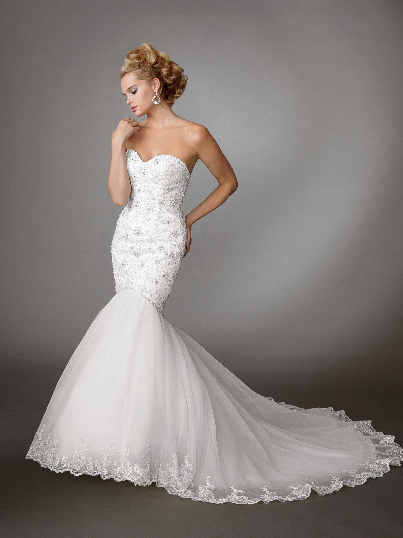 78  images about Wedding Gowns (Mermaid) on Pinterest - Lace ...
