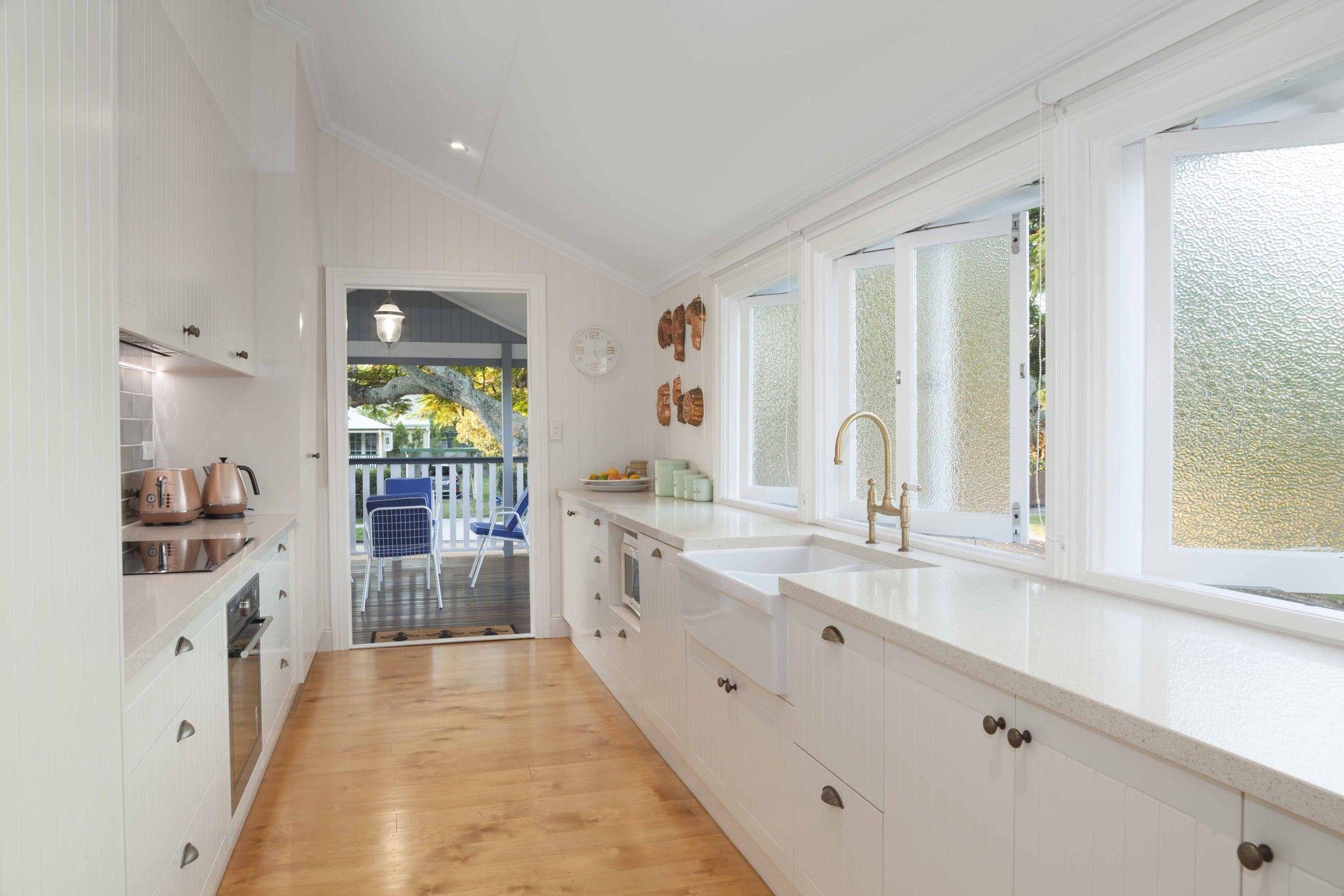 Queenslander Renovation Interior Galley Kitchen Kitchen Renovation Inspiration Kitchen Design Galley Kitchen