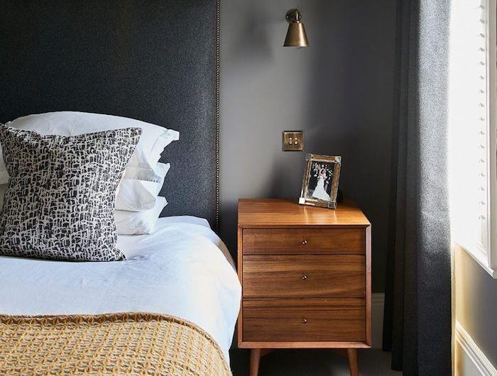 ▷ 1001 + idées pour choisir une couleur chambre adulte - Peindre Table De Chevet