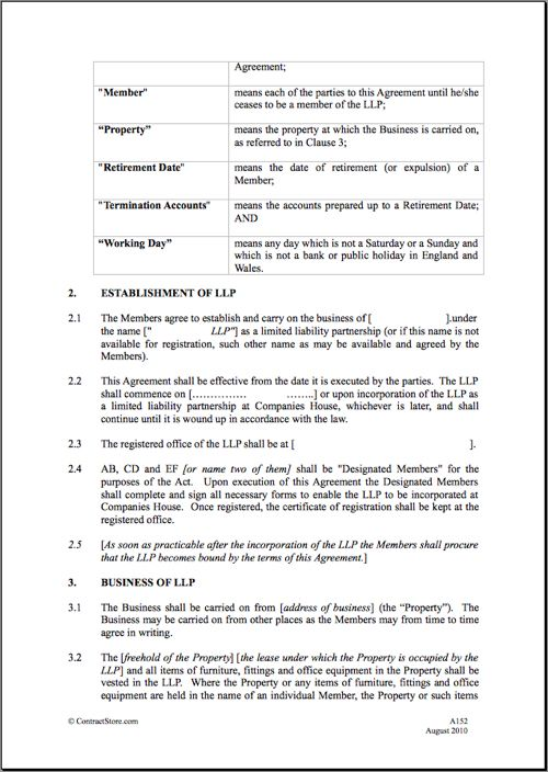 Partnership Agreement Partnership Agreement Template Word Jpg