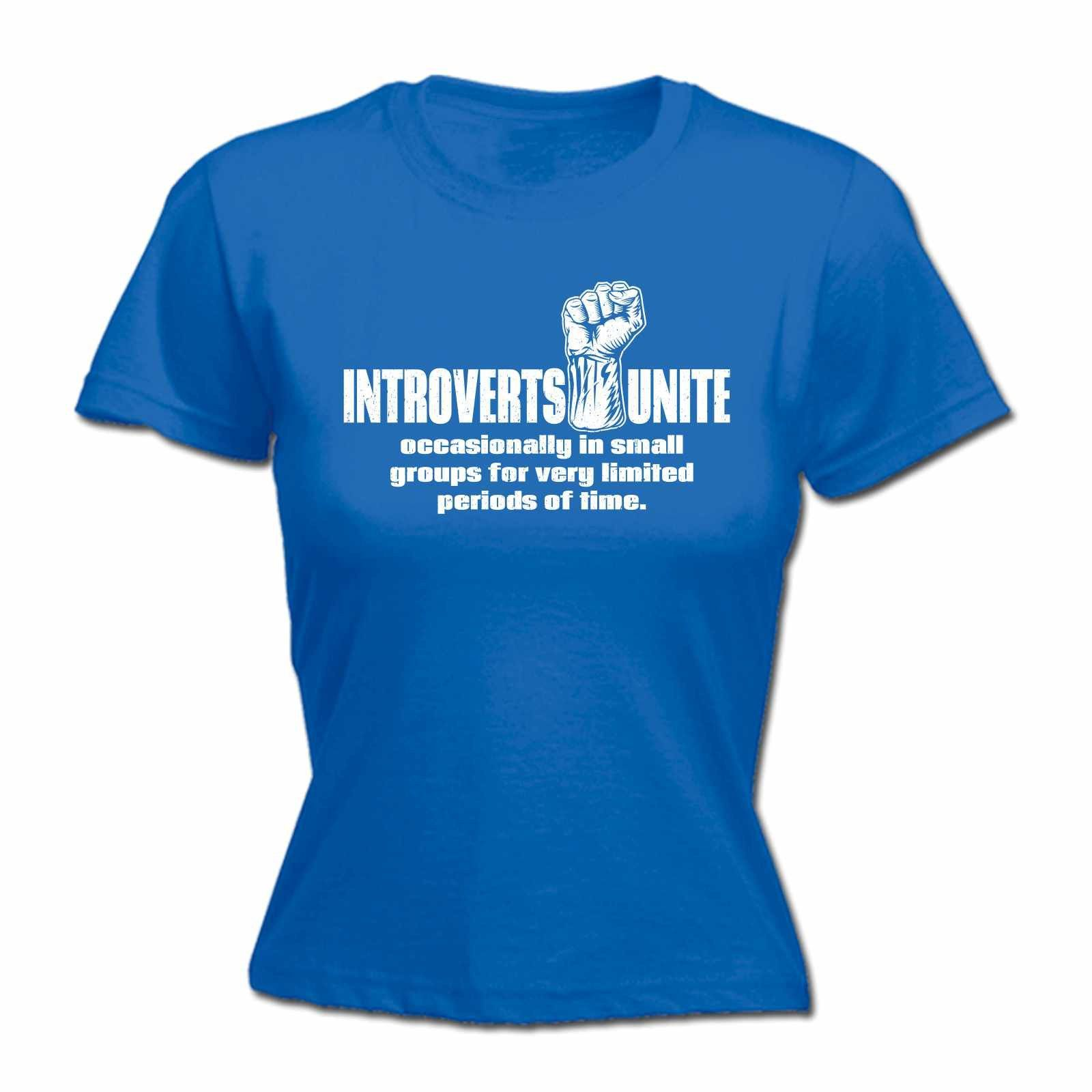 Buy 123t Women's Introverts Unite Occasionally In Small ...