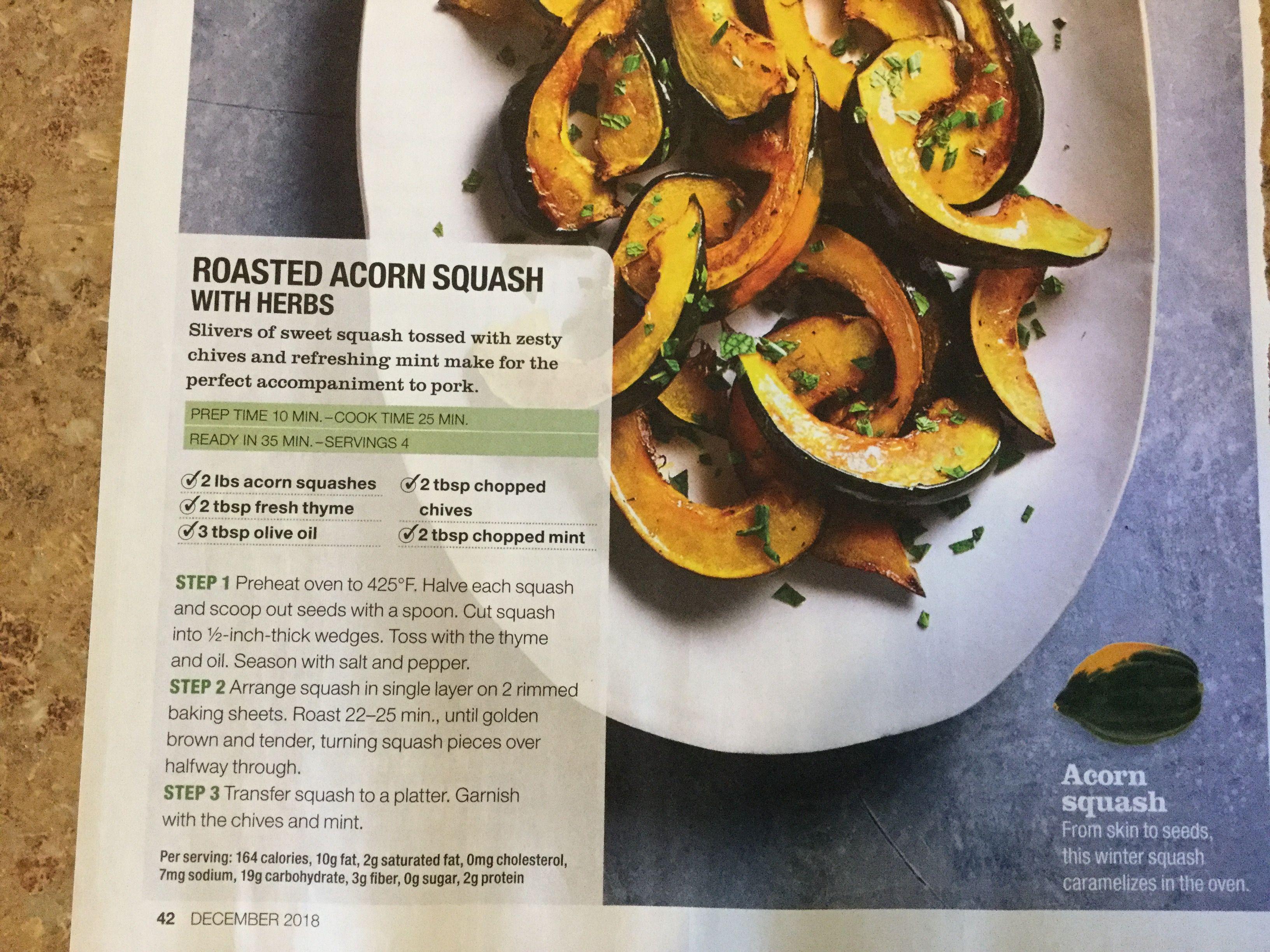 Roasted Acorn Squash With Herbs Acorn Squash Chopped Mint Squashes