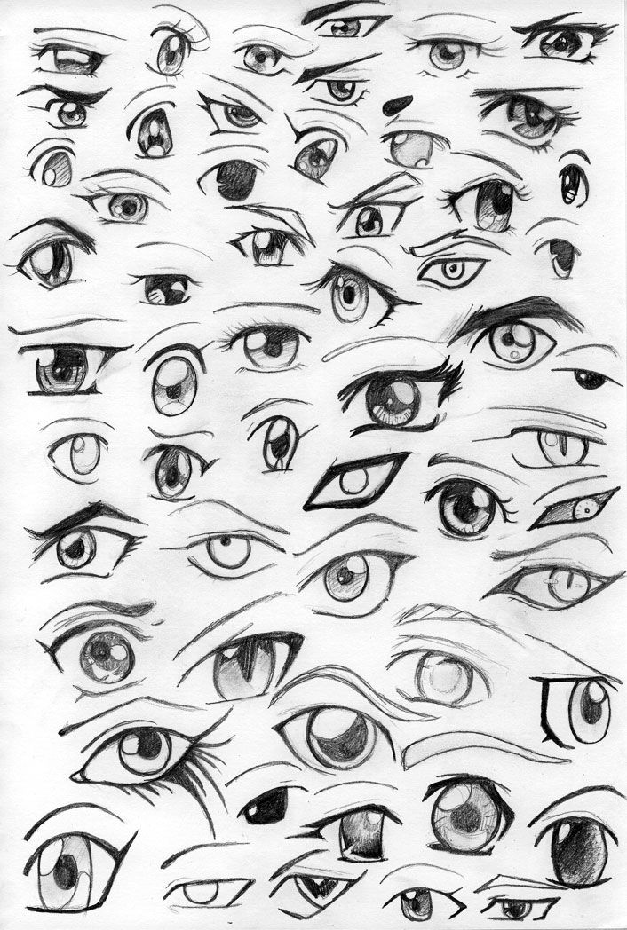 how to draw real anime eyes
