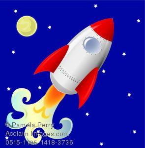 clip art image of a cute rocketship flying across night sky clipart rh pinterest com christmas night sky clipart night sky clipart free
