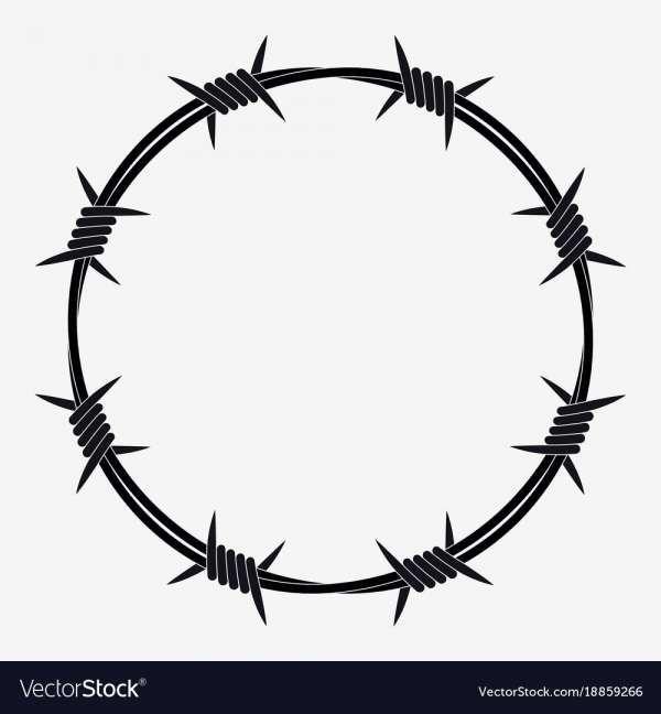 17 Barb Wire Logo Ilustrasi Grafis Tato Lucu Seni Bela Diri