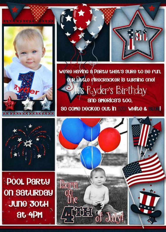 4th Of July Birthday Party Invitation By DecidedlyDigital On Etsy 1500