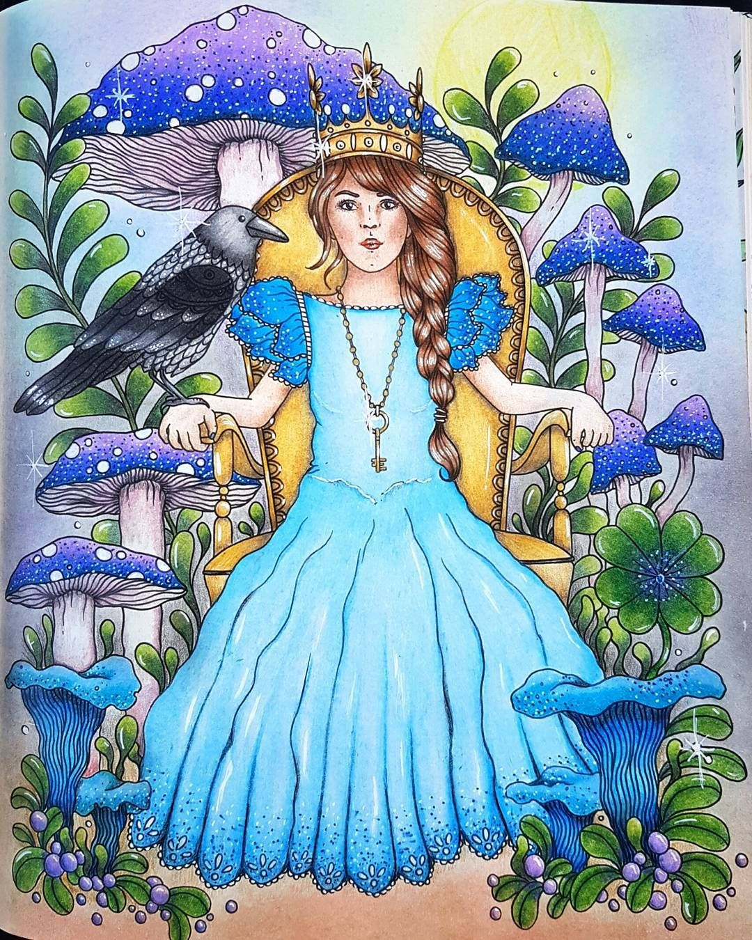 The finished picture in daylight. Much more fair to the colors. #dagdrömmar #målarbokförvuxna #adultcoloringbook #hannakarlzon @hannakarlzon #adultcolouring #målarbok #beautifulcoloring #polychromos #ilovecoloring #coloring_secrets #coloringmasterpiece #daydreamscolouring #mycreativeescape #artecomoterapia #arte_e_colorir #fangcolourfulworld #coloringaddict #coloringaddicted #coloring_secrets #coloringmasterpiece #daydreamscolouring #bayan_boyan #målarböckerförvuxnaalabondmoran