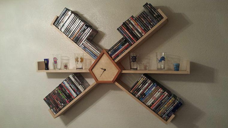 estantes para libros reloj Muebles Pinterest Estantes para