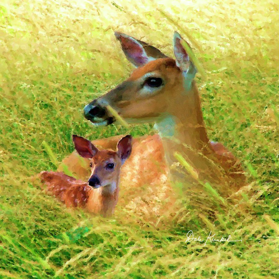 Deer Artwork - Spring Glory Painting by Dale Kunkel Art. Spring is a ...