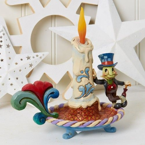 Jim Shore Disney Traditions Jiminy Cricket Electric Candle Figurine New Ebay Jiminy Cricket Disney Traditions Disney Figurines