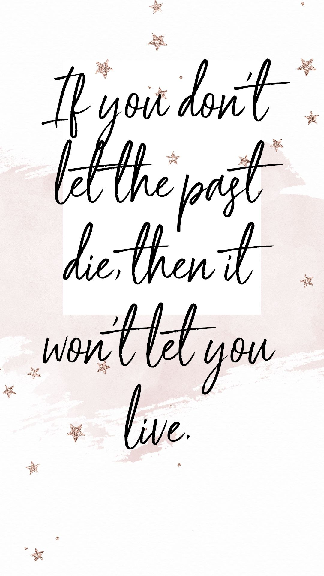 Don't hold onto the past...