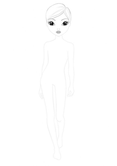 Coloriage top model activit s imprimer dessin top model dessin mannequin et dessin a - Coloriage top model a imprimer ...