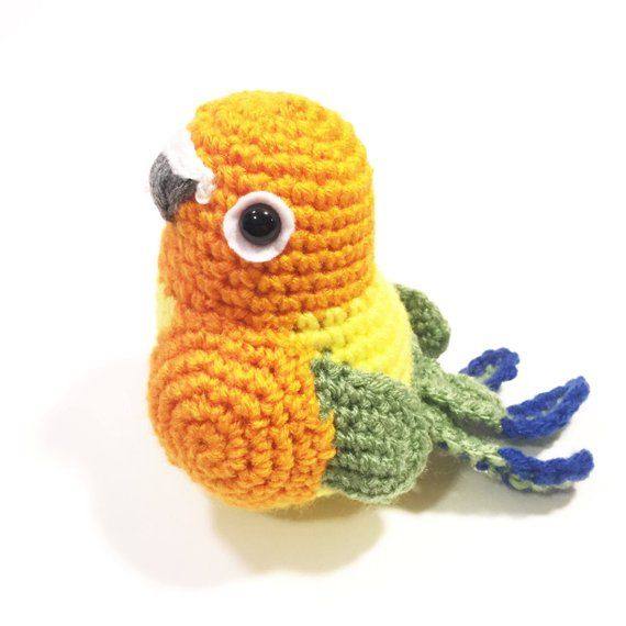 This Listing Is For A Handmade Sun Conure Bird Plush Of Your Very