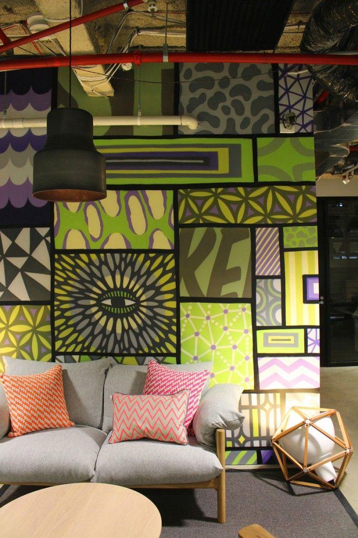 Binnen kijken bij het kantoor van facebook in sidney lounge seating 700x1050 inside facebooks - Binnen deco ...