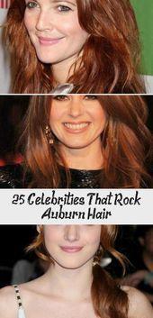 25 Celebrities That Rock Auburn Hair #Auburn #Celebrities #darkauburnhairstyles…, #Auburn…