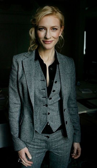 I love when a woman can carry off a well-tailored three-piece suit! TAILORING IS KEY!