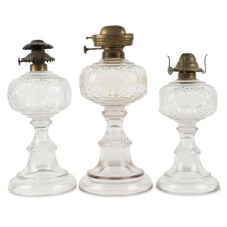 Online View Images And See Past Prices For Graduated Set Of Canadian Oil Lamps