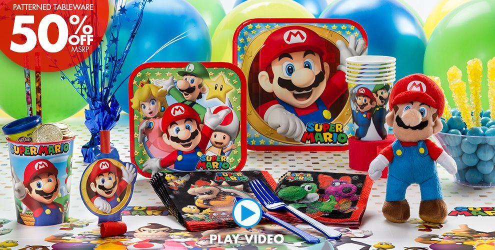 Super Mario Party Supplies Super Mario party ideas Pinterest