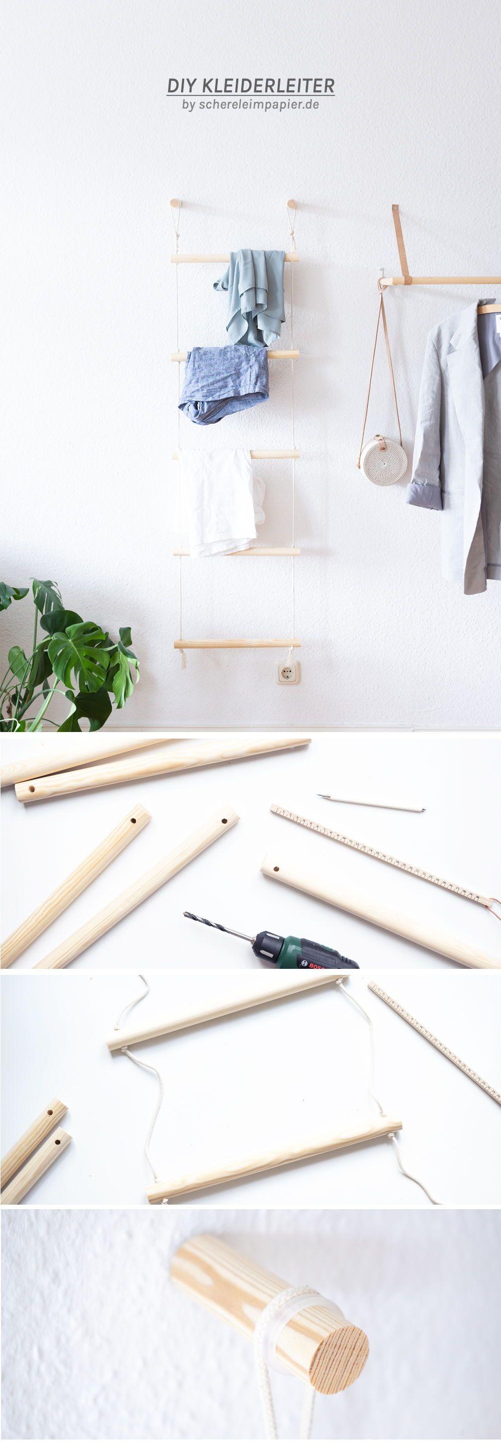 Ordnung schaffen mit Stil: DIY Kleiderleiter bauen #zuhausediy