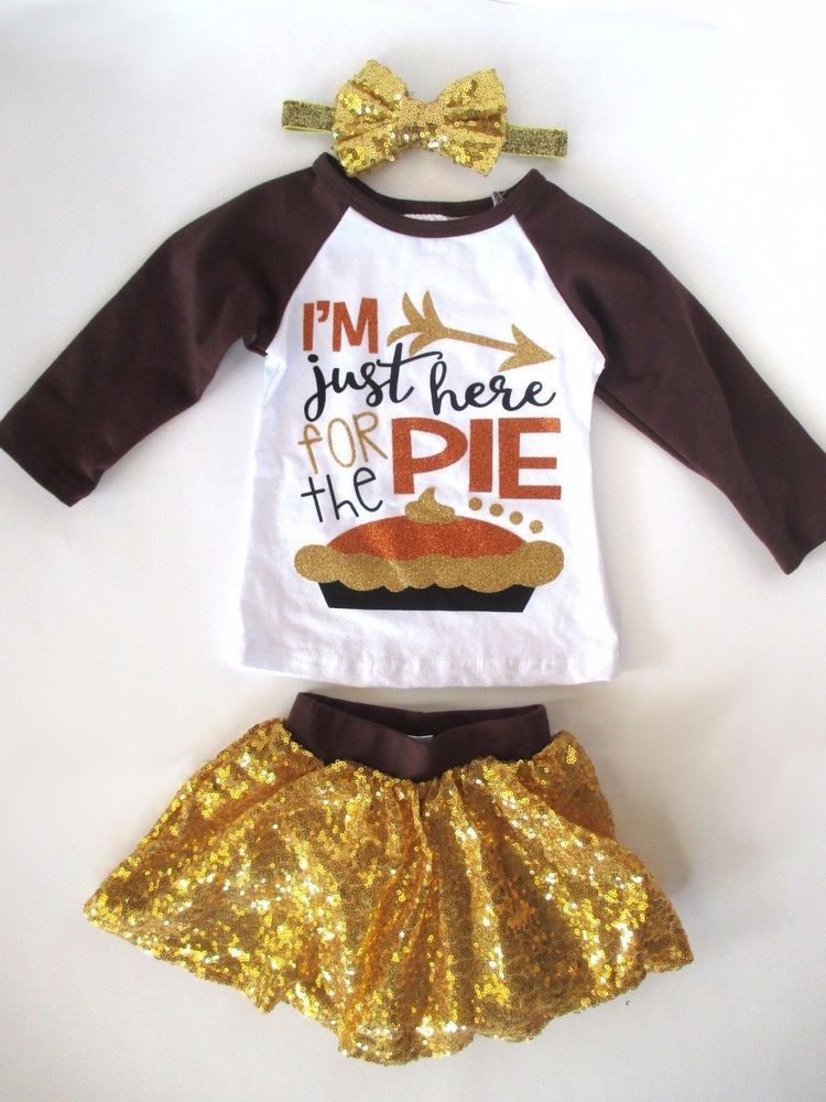 Toddler Baby Girls 12-18 Month Thanksgiving Outfit Here for the Turkey Gold… - Toddler Baby Girls 12-18 Month Thanksgiving Outfit Here For The