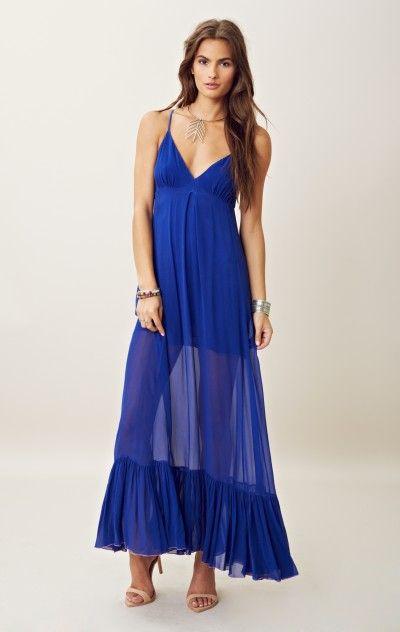 e08d32cdefbe2 Diane silk chiffon maxi dress in 2019 | Planet blue | Dresses ...