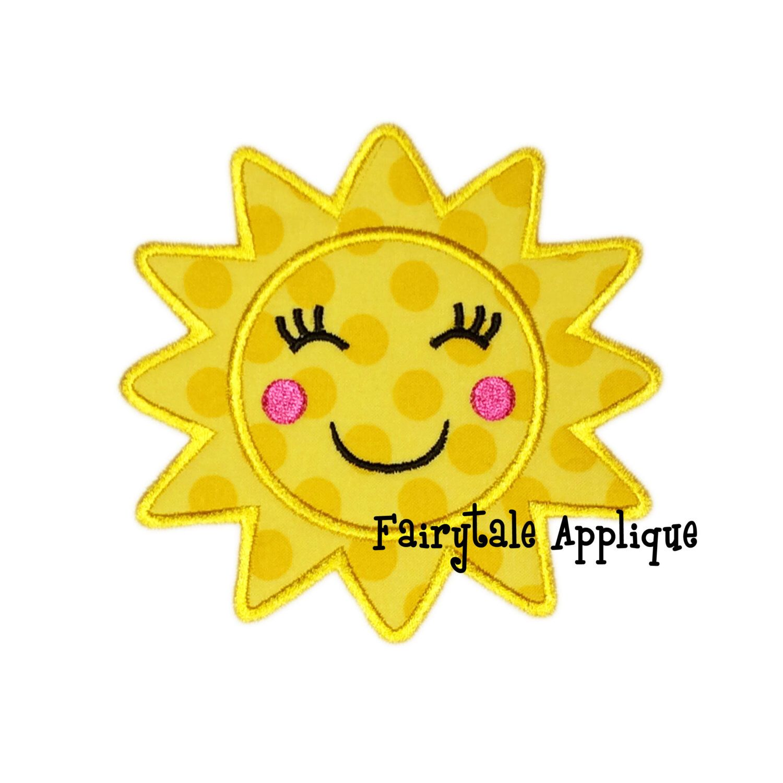 Digitial Machine Embroidery Design - Sunshine Applique by FairytaleApplique on Etsy https://www.etsy.com/listing/207195422/digitial-machine-embroidery-design