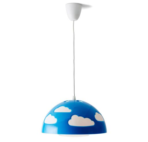 Kids Blue And White Pendant Lamp Baby Childrens Lamps