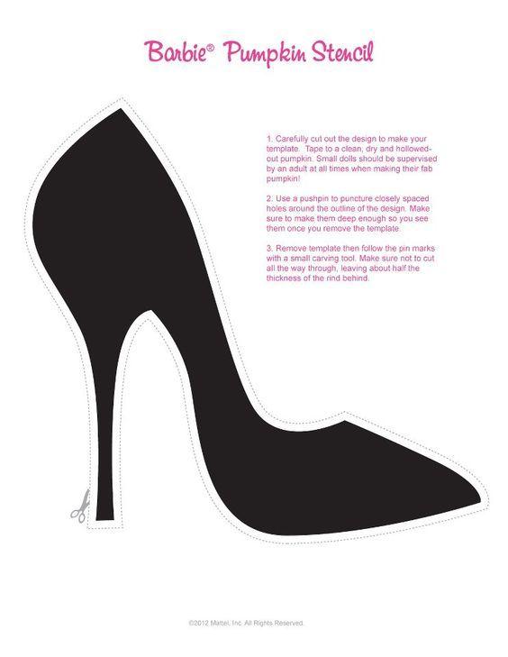 Et Stencils Empreintes Shoes Halloween Escarpin Barbie WZpfvnqfUx