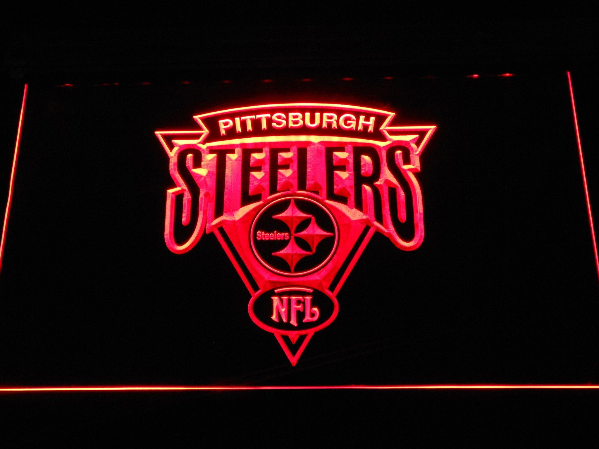 Pittsburgh Steelers Triangle Logo LED Neon Sign Neon