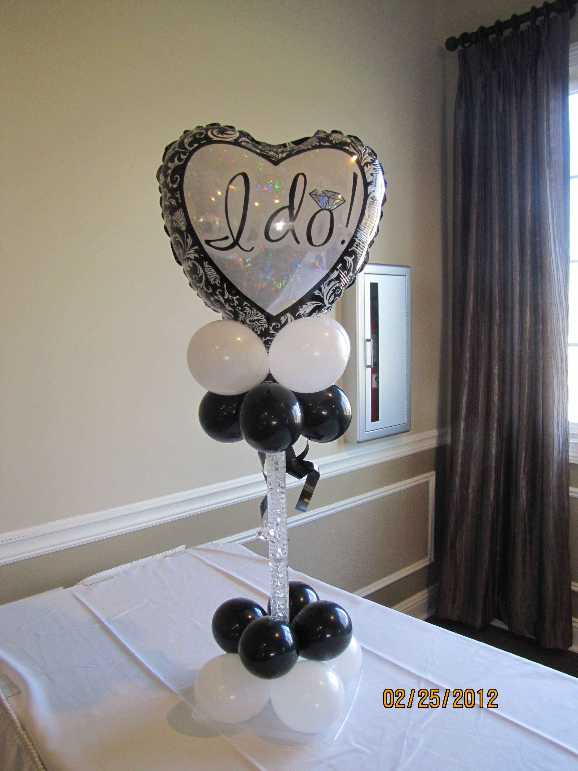 Black And White Wedding Balloons With Sayings - Black And