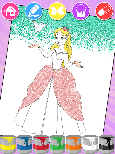 Princess Coloring Book 1 4 8 Apk Mod Obb Android Download Princess Coloring Pages Princess Coloring Princess Cartoon