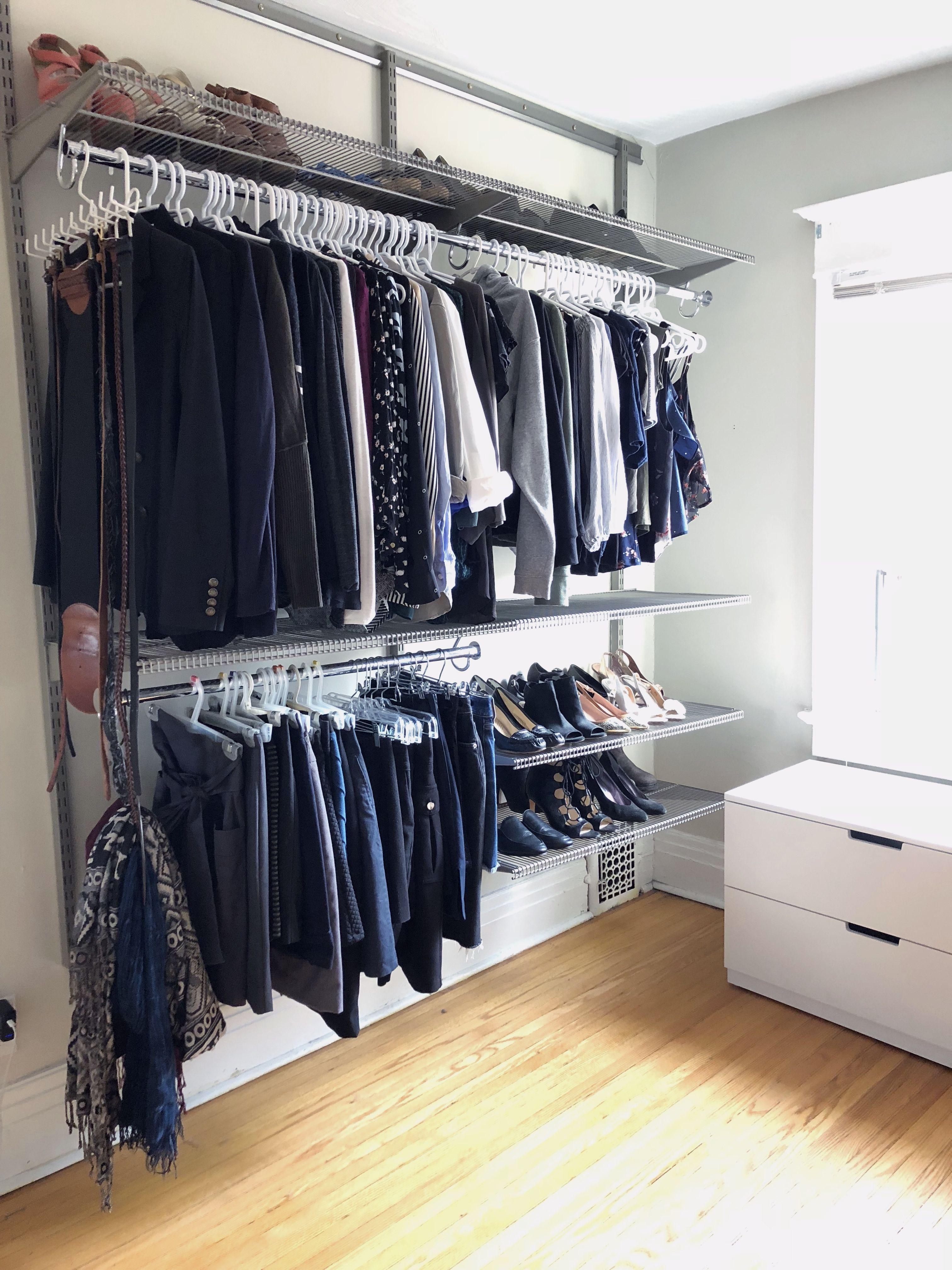 Single Post Small Closet Design Closet Planning Corner Storage