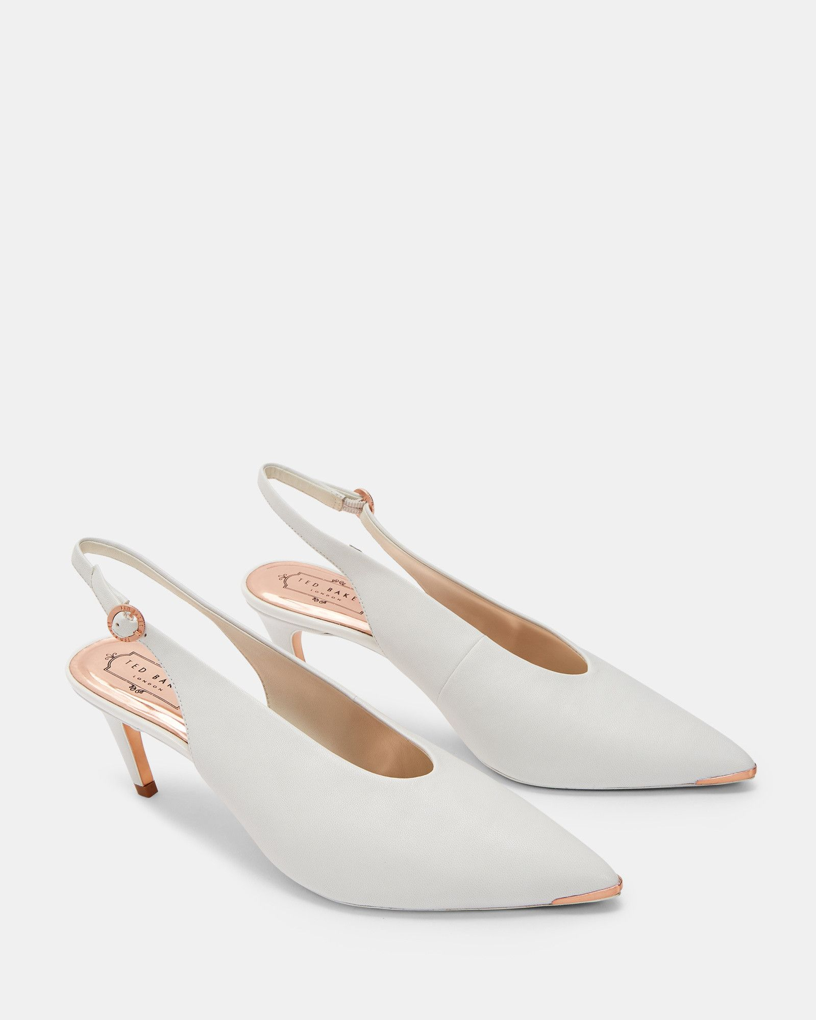 Hulia Slanted Heel Sling Back Courts Tedtotoe Heels Footwear Design Women Women Accessories Shoes