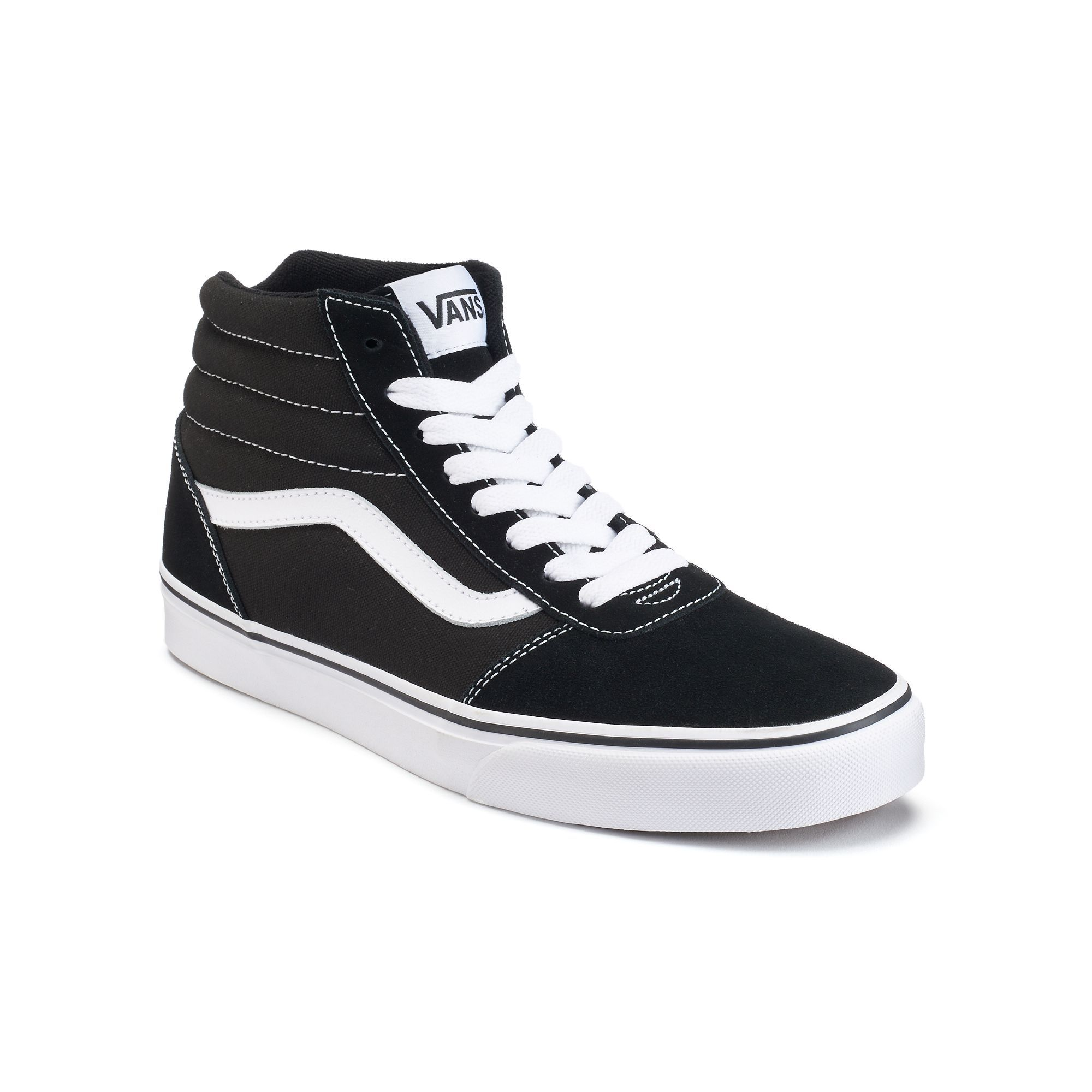 Vans Ward Hi Men's Suede Skate Shoes. Mens High TopsMens High Top ShoesBlack  High Top SneakersBlack ...