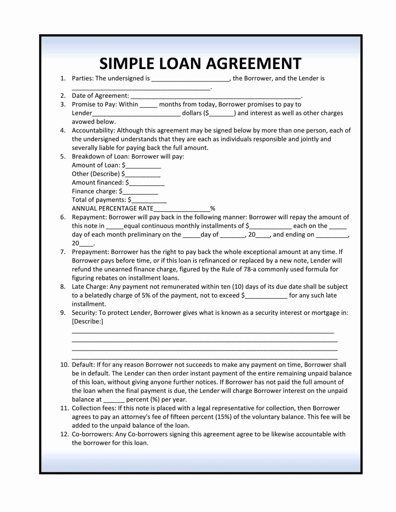 Simple Promissory Note No Interest Notes Template Promissory