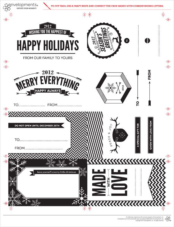 Printable Holiday Tags From Envelopments Printable Holiday Tags Free Holiday Gift Tags Holiday Tags