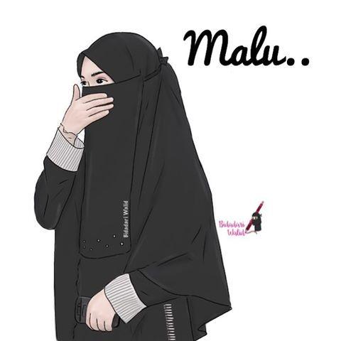 Gambar Kartun Muslimah Bercadar Melestarikan Malu  muslim  Pinterest  Atelier
